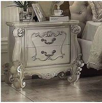 Versailles Bone White 2-drawer Nightstand With Silver Accents