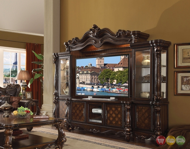 Versailles Cherry Oak Ornamental 72 Quot Tv Entertainment Wall