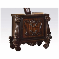 Versailles Classic 2-drawer Ornate Nightstand  In Rich Cherry Oak
