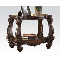 Versailles Formal Ornate Wood Top End Table In Cherry Oak