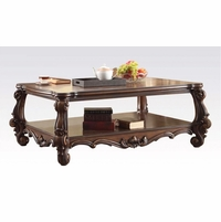 Versailles Formal Rectangular Wood Top Coffee Table In Cherry Oak