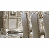 Versailles Traditional Bone White Scrolled Trim Buffet