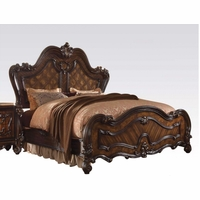 Versailles Traditional Cherry Oak Parquet Panel Queen Bed