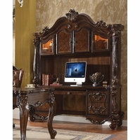Versailles Traditional Cherry Oak Scrolled Computer Desk And Hutch