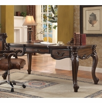 Versailles Traditional Cherry Oak Scrolled Trim Cabriole Writing Desk