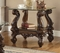 Versailles Traditional Cherry Oak Square Glass Top End Table