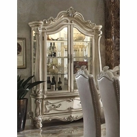 Versailles Traditional Curio Cabinet In Ornamental Bone White