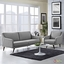 Verve Mid-century Modern 2-pc Upholstered Sofa & Armchair Set, Light Gray