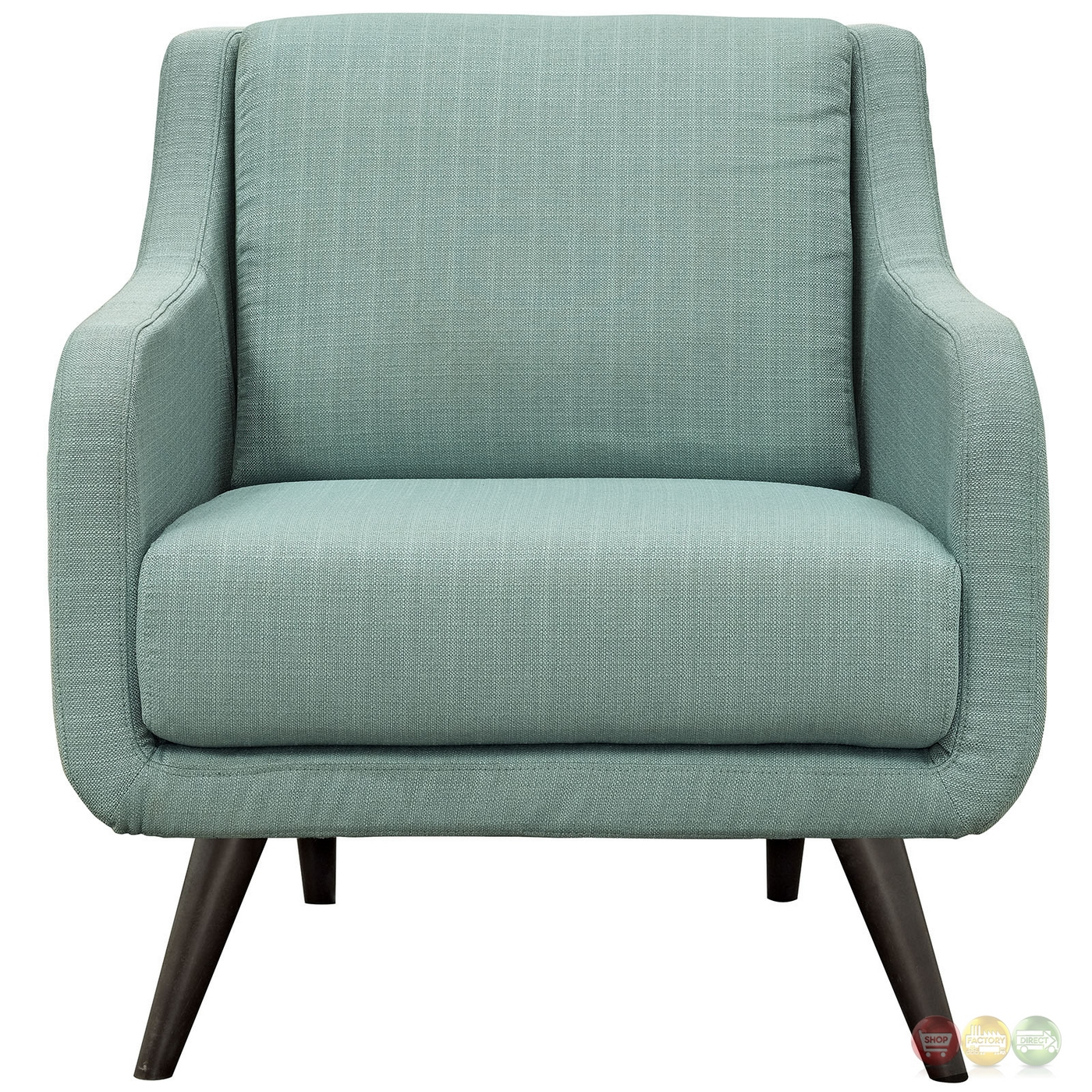 Mid Century Modern Armchairs: Verve Mid-century Modern Upholstered Armchair With Wood