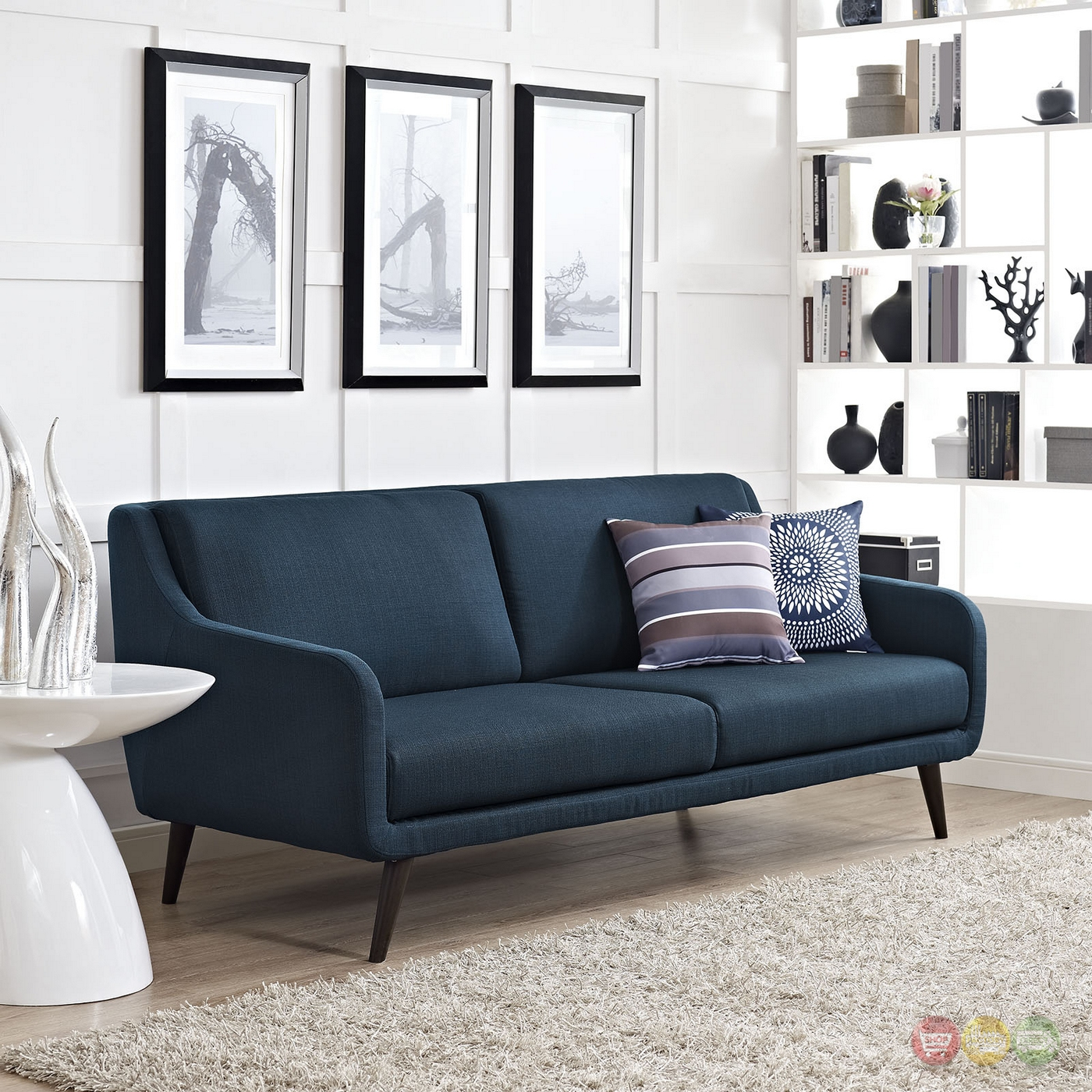 Verve Mid-century Modern Upholstered Sofa With Wood Frame