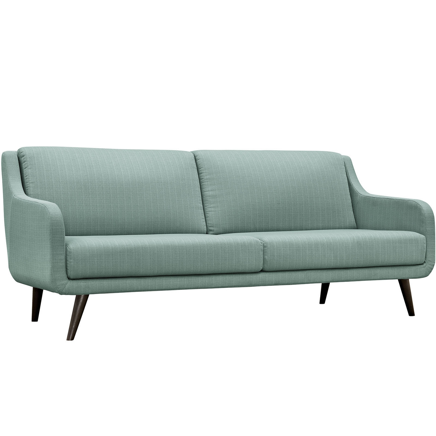 Verve Mid Century Modern Upholstered Sofa With Wood Frame Laguna. Full resolution  photograph, nominally Width 1400 Height 1400 pixels, photograph with #577474.
