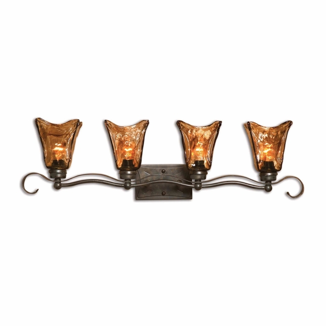 Vetraio Traditional 4 Light Bronze Vanity Strip 22845