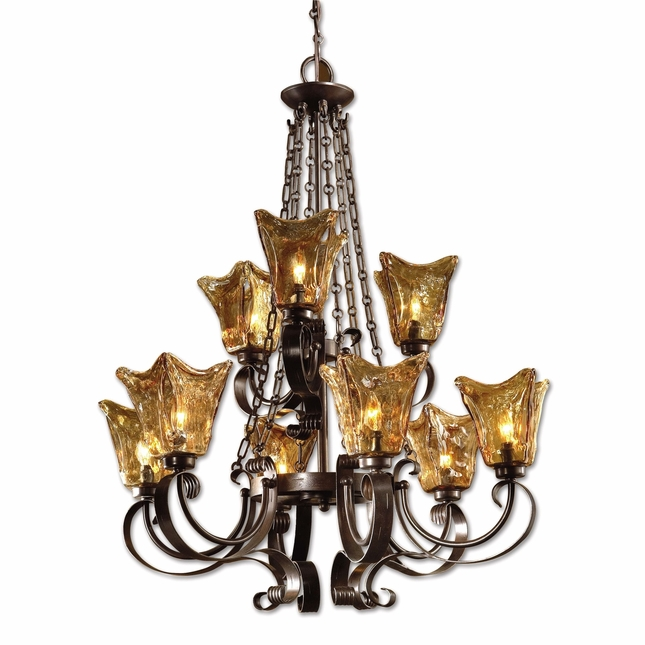 Vetraio Traditional 9 Light Chandelier 21005