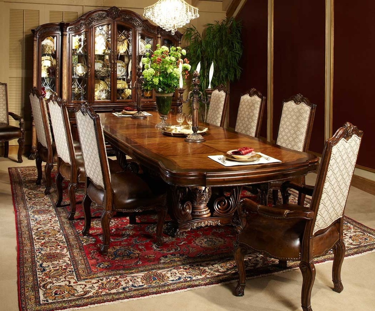 Michael Amini Victoria Palace Rectangular Table Dining Set