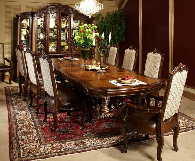 Michael Amini Victoria Palace Rectangular Table Dining Set by AICO
