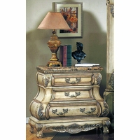 Victorian Inspired Antique White Luxury Night Stand