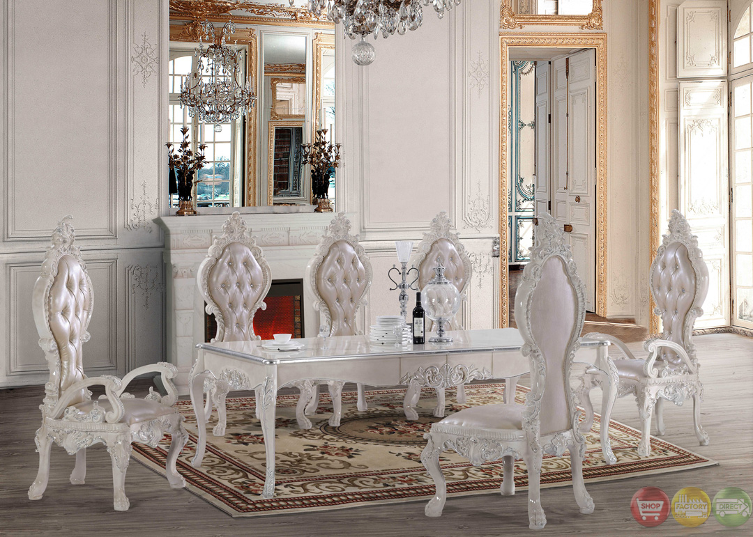 White formal dining room