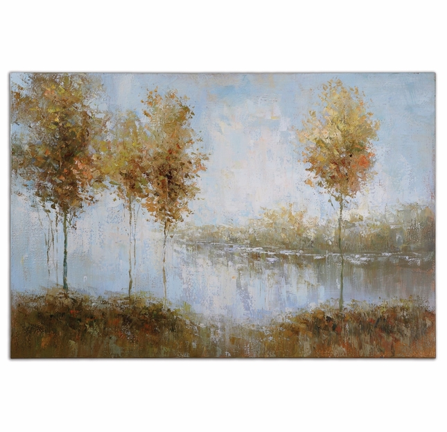 View of The Lake Hand Painted Oil Canvas Art 34266