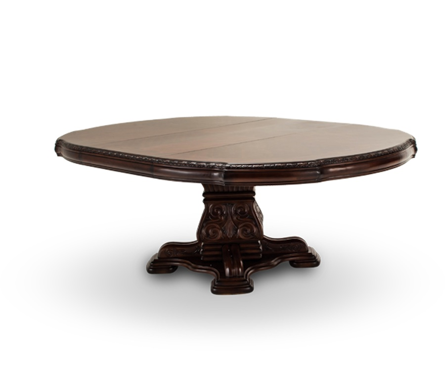 Michael Amini Villagio Hazelnut Traditional Round Table