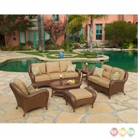 Villanova 6p Weather Resistant Woven  Outdoor Living Set with Sunbrella Fabric - 10725216