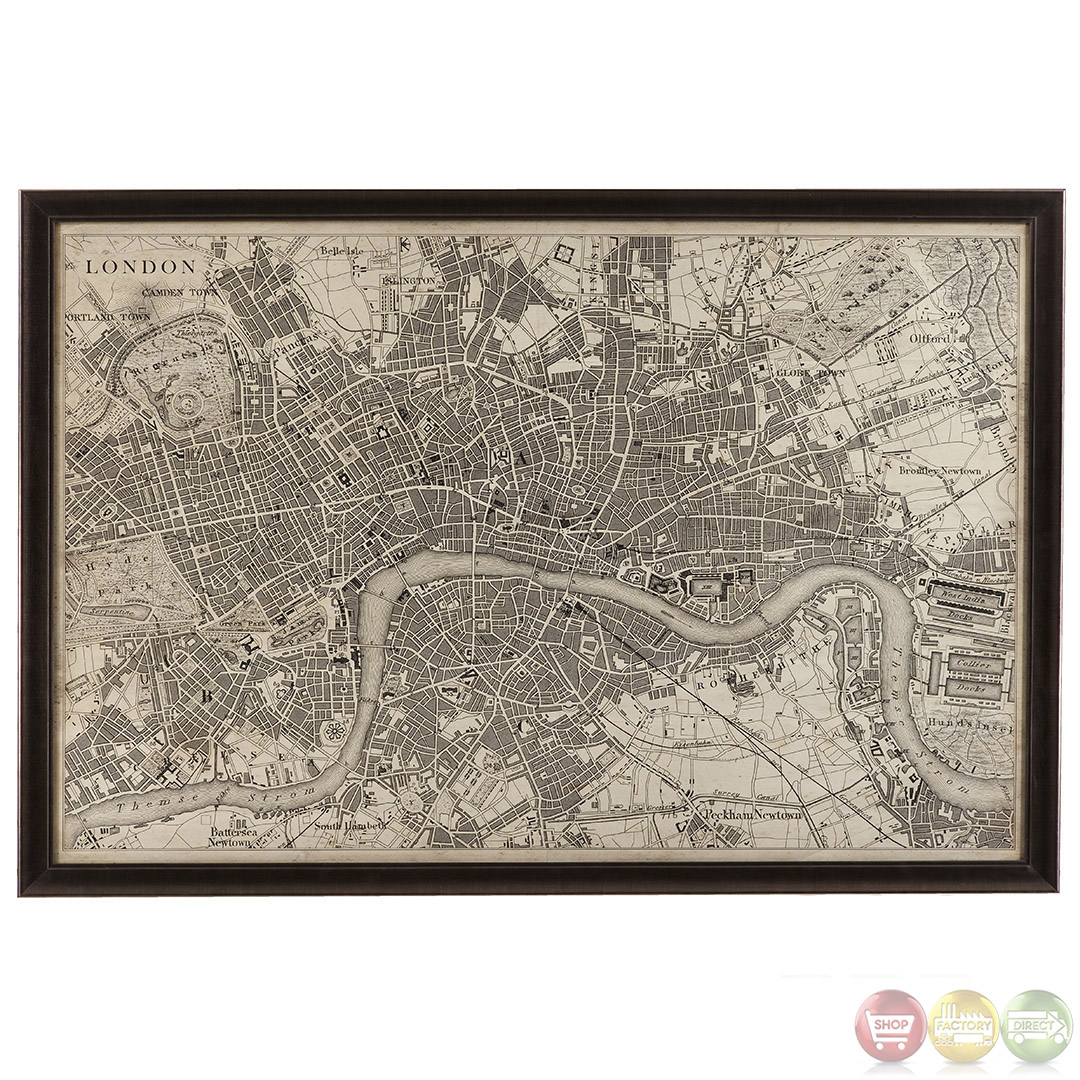 vintage map of london framed print wall art 9900 262ec