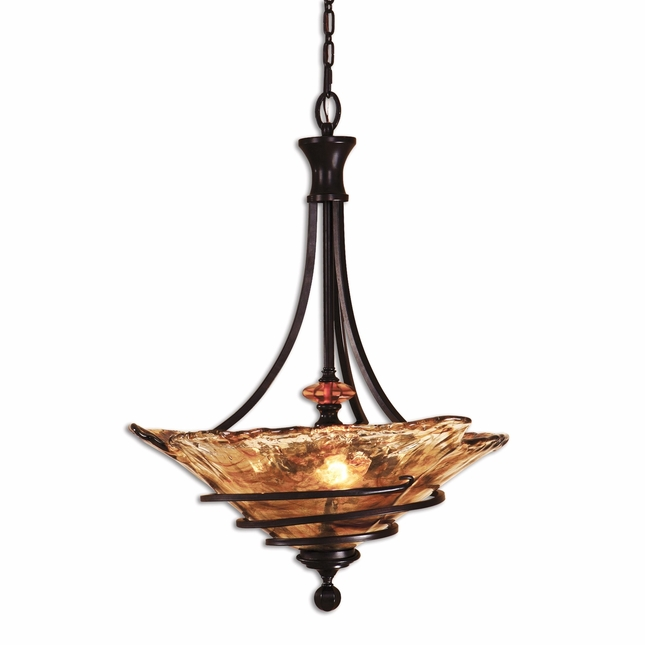 Vitalia Modern 3 Light Bronze Pendant 21904