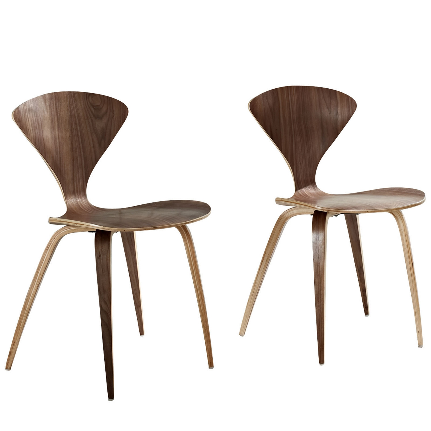 modern wood panel dining chairs with lacquered finish dark walnut