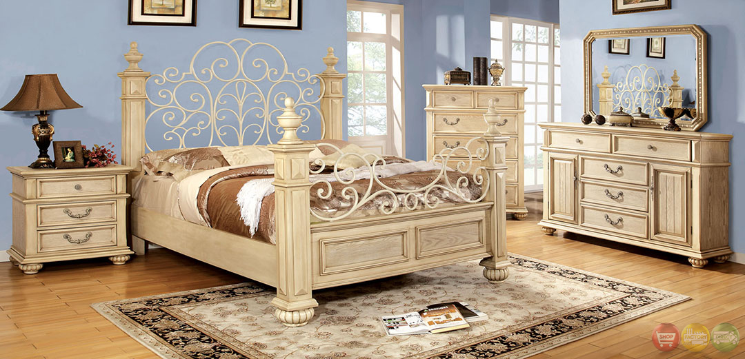 Http Shopfactorydirect Com Furniture Of America Waldenburg Traditional Antique White Bedroom Set With Floral Metal Design Headb Html