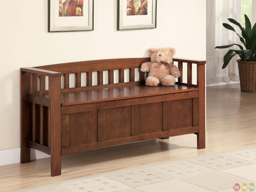 Walnut Flip Top Spacious Seating And Storage Bench