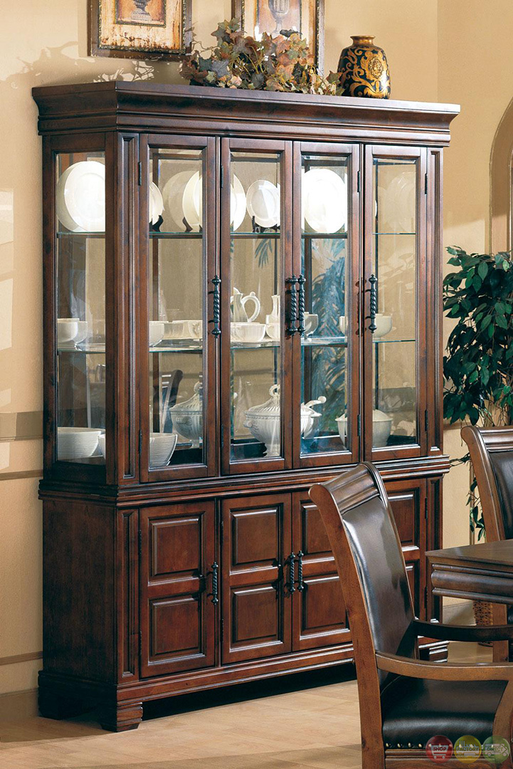 westminister cherry finish 7 piece old world dining room set