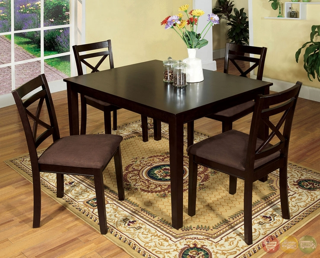 Weston I Contemporary Espresso Casual Dining Set with  : weston i contemporary espresso casual dining set with padded microfiber seat cm3400 20 from shopfactorydirect.com size 645 x 520 jpeg 326kB