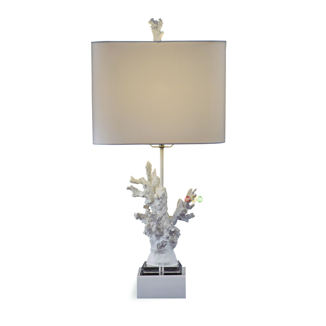 white coral resin table lamp l2667tec. Black Bedroom Furniture Sets. Home Design Ideas