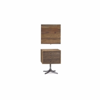 Williamsburg 2-Drawer Birch End Table with Walnut Finish