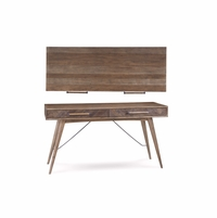 Williamsburg 2-Drawer Birch Study Desk with Natural Finish