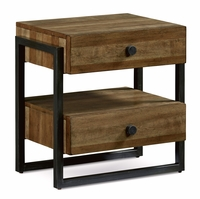 Williamsburg 2-Drawer Nightstand With Brown Reclaimed Finish