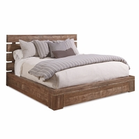 Williamsburg California King Storage Bed With Brown Reclaimed Finish