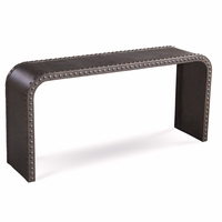 Williamsburg Grey Boiler Plate Metal Riveted Console Table