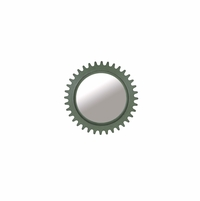 "Williamsburg Industrial Gear Mirror in Antiqued Green, 36"" Round"