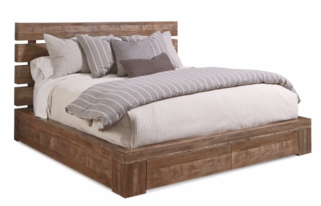 Williamsburg King Storage Bed With Brown Reclaimed Finish