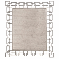 "Williamsburg Metal Link Beveled Mirror Distressed Finish, 52""x42"""
