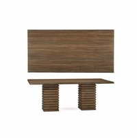 Williamsburg Stacked Slat Double Pedestal Pine Dining Table