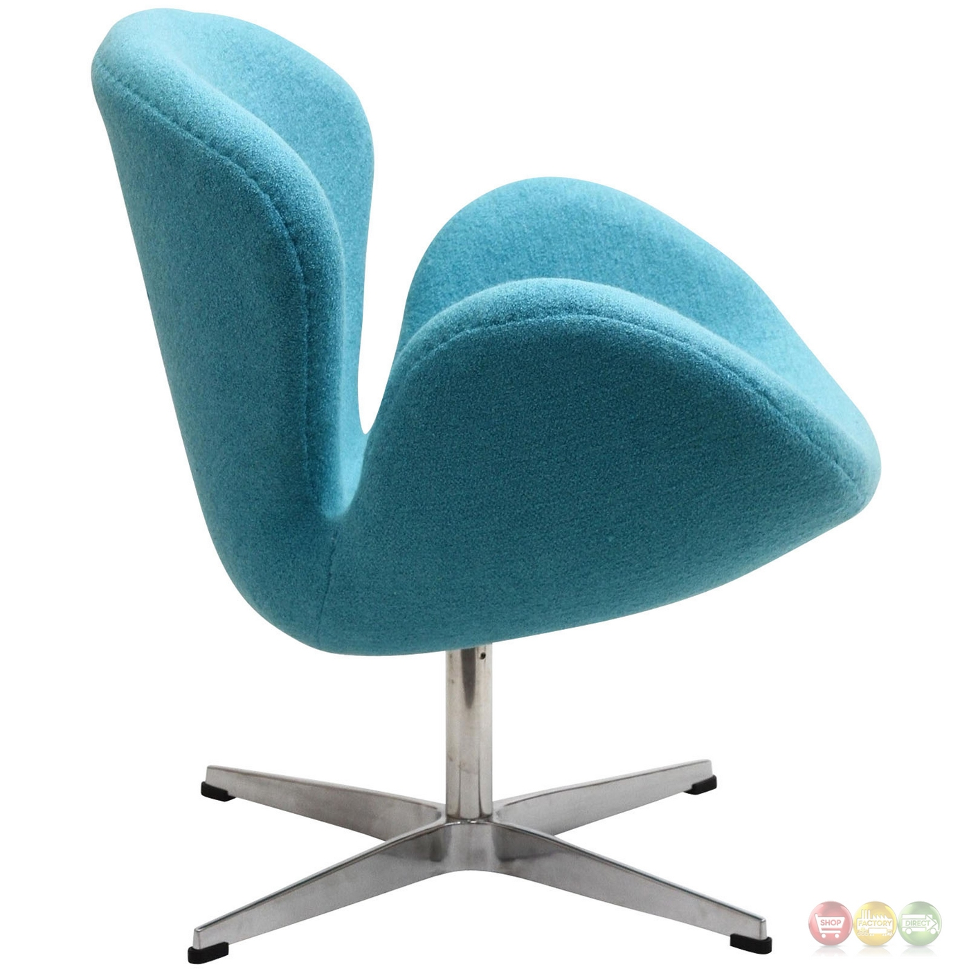 Wing Modern Upholstered Lounge Chair With Aluminum Frame