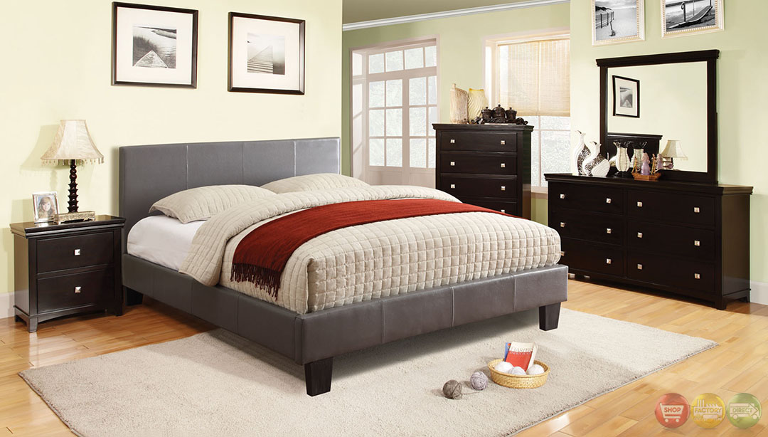 Winn Park Contemporary Gray Platform Bedroom Set with