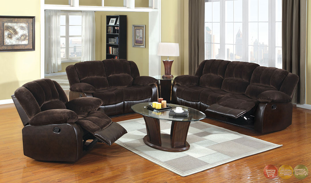 winslow traditional dark brown living room set with plush cushions