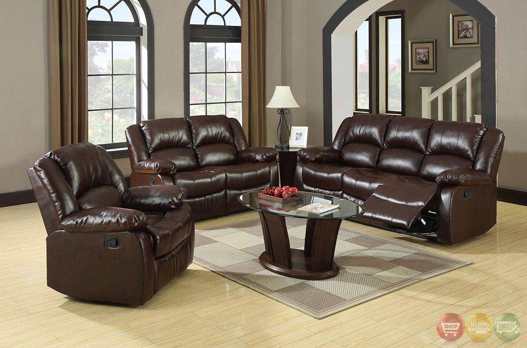 Winslow Traditional Rustic Brown Living Room Set with