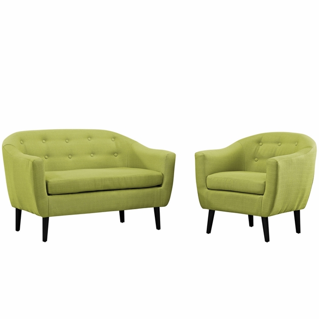 Wit Contemporary 2pc Upholstered Living Room Set, Wheat
