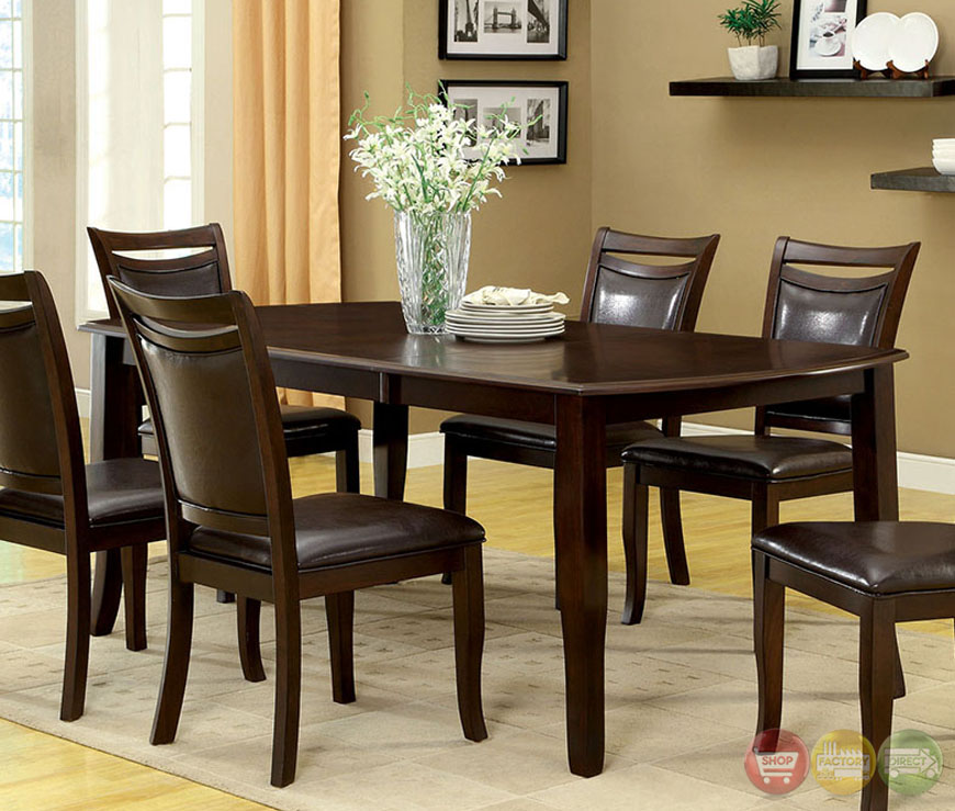 Casual Modern Dining Room: Woodside Contemporary Dark Cherry Casual Dining Set With