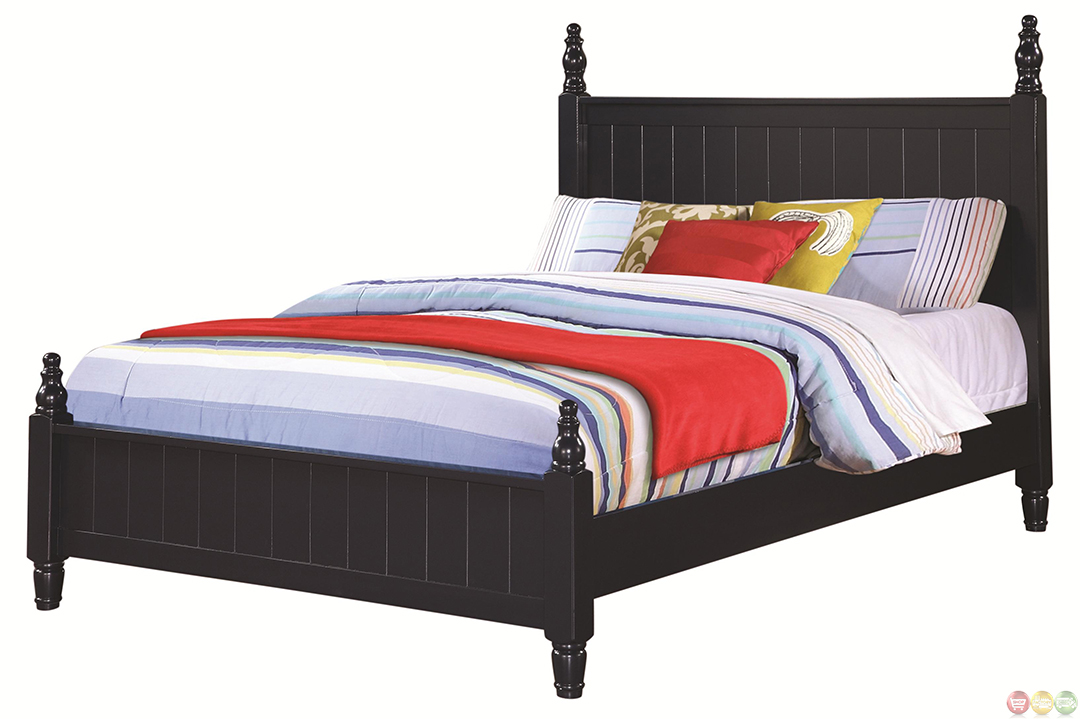 zachary cottage navy blue finish twin bedroom set