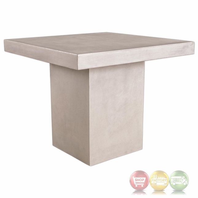 Zaire Industrial Concrete Bar Table With Smooth Gray Finish