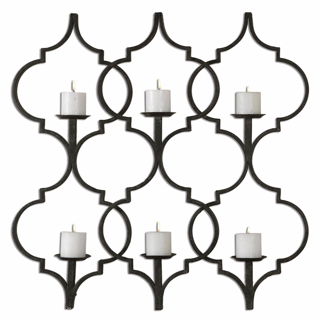 Zakaria Wall Sconce Modern Aged Black Metal Candleholder